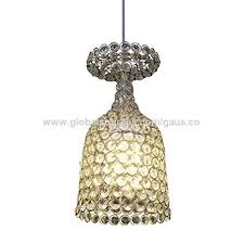 china modern hanging wine glass shade pendant lights with top crystals for home decor