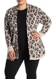 Susina Animal Jacquard Cardigan Plus Size Hautelook