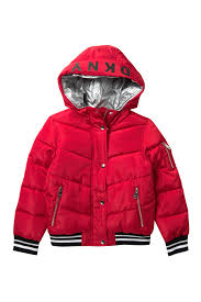 Dkny Baby Size Chart Dkny Rib Bottom Puffer Jacket Big Girls Hautelook