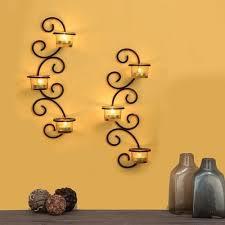 flourescent metal wall sconce tealight