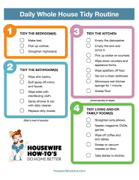 Weekly House Cleaning Chart Cleaning Checklists Free Printable Home Cleaning Routines