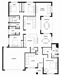 4 bedroom ranch floor plans best of 22 lovely 4 bedroom two y house plans of