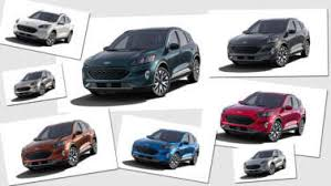 2017 Ford Edge Color Chart All The 2020 Ford Escape Paint And Interior Color Options