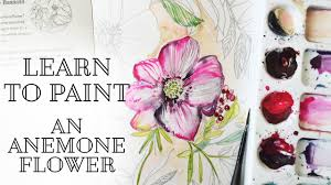 learn to watercolor an anemone flower with kristy rice