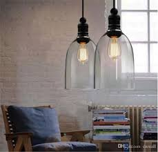 modern crystal bell glass pendant lights glass hanging light droplight edision pendant lamps dining room indoor contemporary lighting e27 crystal bell glass