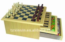 Wooden Multi Game Board Interesting 32 IN 32 Wooden Game Setmulti Game Box China Mainland Chess Games