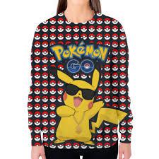 Заказать свитшот женский с полной запечаткой <b>Pokemon</b> GO ...