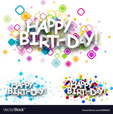 Colour Backgrounds Free Happy Birthday Colour Backgrounds Royalty Free Vector Image