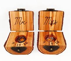 wood ring holder with flip top wood jewelry box wood anniversary gift
