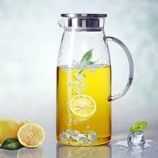 wondrous design glass pitchers with lids purefold 60 ounces pitcher lid hot cold water jug juice