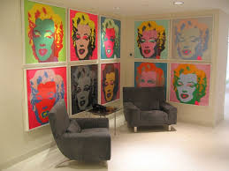 modern art for office. Office:Lovely Decoration Office Lobby Ideas Using Marlin Monroe Canvas Wall Art Also Grey Recliner Modern For