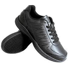 black leather athletic non slip shoe main picture