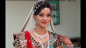 indian bridal makeup and hairstyle off white gold and green look