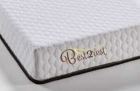 BEST 2 REST Memory Foam Mattress California King Fortnight Bedding