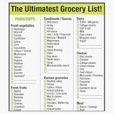 Grocery List Template Free Printable Block Letter W Justwait Us
