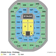 Chicago Wolves Interactive Seating Chart Rosemont Arena Seating Chart Chicago Wolves Seating Chart