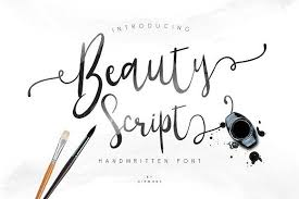 Beauty Script Fonts A Beauty Script Handwriten Font A Good For