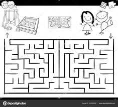 Labirinto Gioco Di Attività Con I Bambini E Parco Giochi Per Bambini