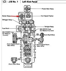 1997 toyota corolla 1 8 where is the starter relay switch located graphic