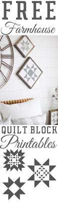 """Free Farmhouse Printables Quilt Block Stars — The Mountain View ... & Download Quilt Block Printables. """" Adamdwight.com"""