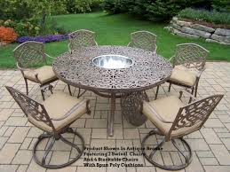 60 Round Dining Table Set Cascade 9 Pc Patio Dining Set 60u0026quot Round Table U0026amp
