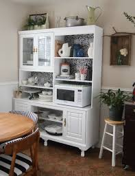 innovative kitchen hutch ideas remodelaholic create a kitchen hutch from an 80s wall unit