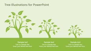 Tree Powerpoint Template Tree Illustration Diagrams For Powerpoint Slidemodel