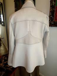 back view womens deerskin jacket custom made by jackie robbins leather waves malibu california