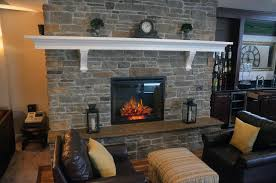 natural gas fireplace basement