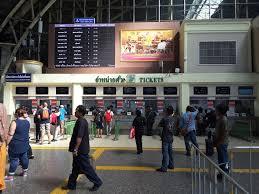ticket office at hua lamphong train station bangkok