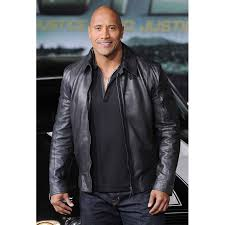 dwayne johnson faster leather jacket 1