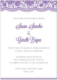 Wedding Invitations Templates Purple Wedding Invitation Templates Do It Yourself And Download Template