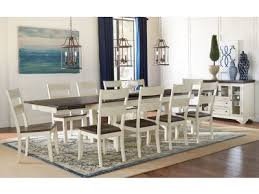 white kitchen table sets. aam47t and ladderback side chairs 11 piece set white kitchen table sets