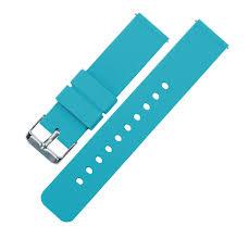 Fossil Q | Silicone | Aqua Blue  Fossil Q Blue Silicone Watch Band Strap  ...