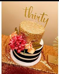 Thirty Cake Topper Glitter Cake Topper 30th Birthday Cake