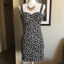 Charlotte Russe Leopard Print Bustier Style Dress