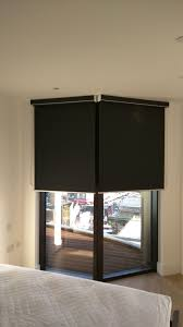 blackout blinds. Perfect Blackout Blackout Roller Blind With Matching Pelmet Fitted Outside The Recess Window   Bedroom Dalston And Blinds B