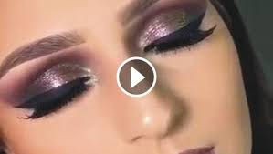 video of lovely beautiful eye makeup