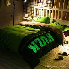 3d bedding noctilucent bedding set queen size 200tc cotton 6 feet duvet cover set flat sheet pillow case the hulk avengers iron man quilt bedding king size