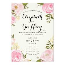 card invitation modern vintage pink floral wedding invitation card