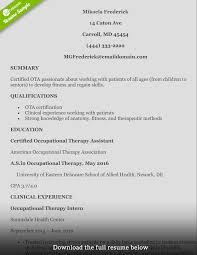 How To Write A Perfect Occupational Therapist Resume Pediatric