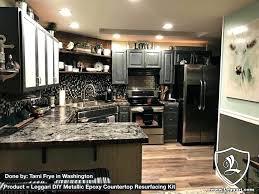 diy countertop resurface metallic