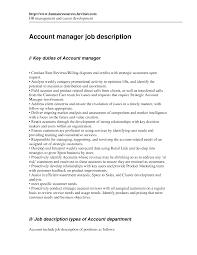 Account Manager Job Description Account Manager Job Description