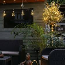 outdoor fairy lighting. outdoor copper micro naked wire battery fairy lights 50 warm white leds lighting