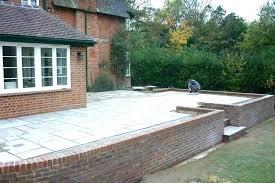 raised concrete patio raised garden patio raised concrete patio wall amp patio preparing the ground large