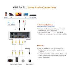 Optical & AUX Inputs App MUZO Control Multi-Room Sync KEiiD WiFi &  Bluetooth 5.0 Stereo Receiver & Amplifier for Home Audio System Subwoofer  Output for 2.1 System Wireless Music Streaming Speakers Electronics