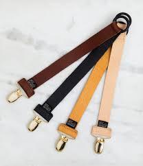 exclusive collection leather pacifier clip black elo details elo