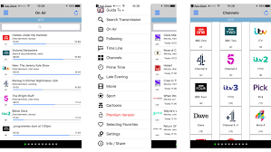 tv guide. best tv guide apps freeview f
