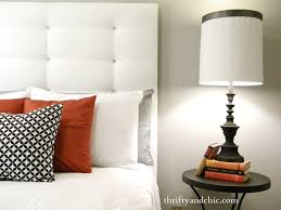 Cheap Diy Headboards Break An Oversize Headboard Into Small Squares For An Easy