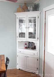 Corner Hutch Furniture Makeover Hutch furniture Corner hutch and